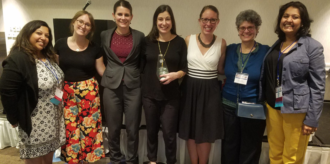 MCPHP group photo with IPHA Award of Merit Winner, Sophie Naji